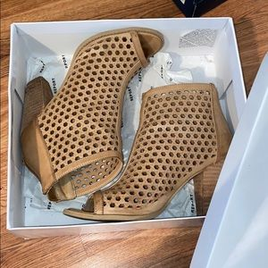 Tan heels worn for church and other events.